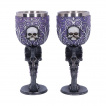Set de 2 verres à pied cranes Deaths Desire - Nemesis Now