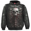 Sweat capuche homme à cage thoracique style catacombes