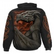 Sweat capuche homme gothique à Dragon Majestueux