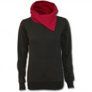 Achat Sweat shirt gothique femme noir à capuche et lacets