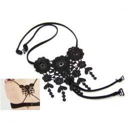 Bretelles gothiques pour soutient-gorge en dentelle acrylique et �lastique