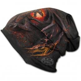 Bonnet gothique homme avec dragon flamboyant