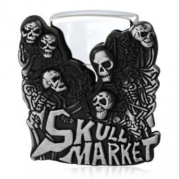 """Boucle de ceinture porte briquet """"Skull Market"""" + briquet"""