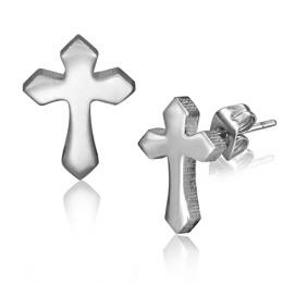 Boucles d'oreilles croix à extrémités flèchées