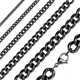 Chaine acier à mailles noires