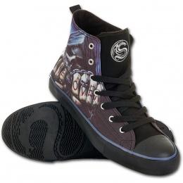 Chaussures gothiques Sneakers homme avec la Mort à chaine de combat