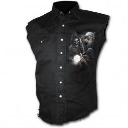achetez ici votre chemise sans manche gothique pour homme. Black Bedroom Furniture Sets. Home Design Ideas