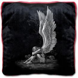 Coussin plat gothique avec femme ange enchainée sur pentagramme