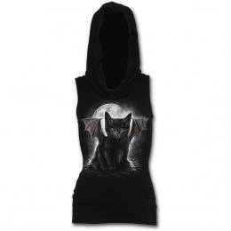 Débardeur à capuche avec chaton noir vampire
