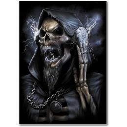 Drapeau style poster avec La Mort écoutant de la musique - DEAD BEATS
