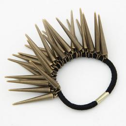 Elastique à cheveux avec multiples piques coloris bronze