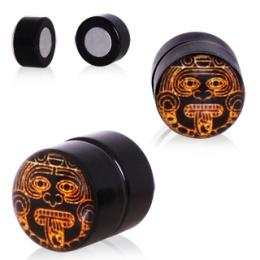 Faux plug oreille style Aztec (magnétique - sans perçage)