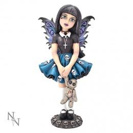 """Figurine fée gothique Little Shadows """"Noire"""" - 14cm"""