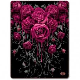 Grande couverture en molleton avec roses ensanglantées
