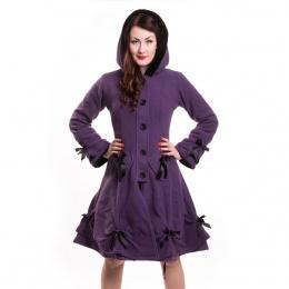 Manteau femme violet à rubans - Poizen Industries