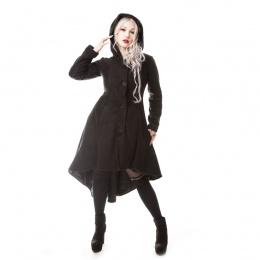 Manteau gothique femme noir corsetté MEMORIAL - Poizen Industries