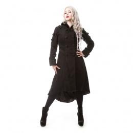 Manteau gothique femme noir MIDNIGHT - Poizen Industries
