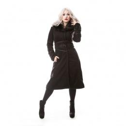 Manteau gothique femme noir SECRET - Poizen Industries