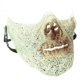 Masque de zombie blanc tacheté