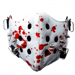 Masque Poizen Industries Spike Mask White/Blood