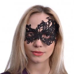 Masque venitien en dentelle noire Diomira