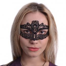 Masque venitien noire en dentelle Faustina