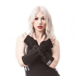 """Mitaines goth-rock femme Poizen Industries """"Line Armwarmers"""""""