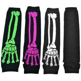 Mitaines gothiques femme noires à main squelette - Poizen Industries