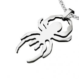 Pendentif gothique acier araignée