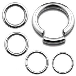Piercing anneau acier à segment style CBR