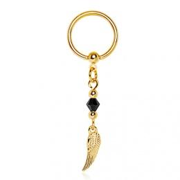 Piercing anneau captif pendentif aile d'ange