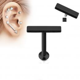 Piercing cartilage barre moyenne noire