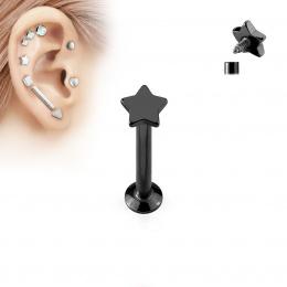 Piercing cartilage étoile noire
