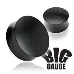 Piercing écarteur plug en bois Areng noir