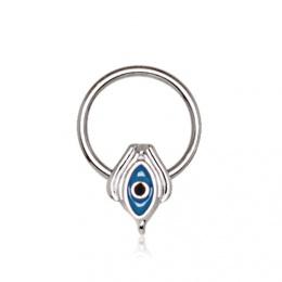 Piercing septum anneau captif oeil d'Horus