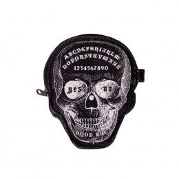 Porte-monnaie Banned gothique en forme de tête de mort style Ouija