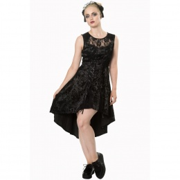 Robe gothique longue noire Banned SKULL CANDY