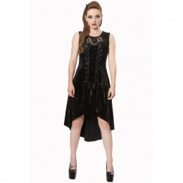Robe longue gothique noire Banned GOTH KEEPER