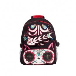 Sac à dos gothique lolita Jawbreaker à chat style crane de sucre avec yeux stéréo