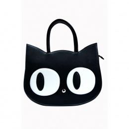 Sac à main gothique Banned tête de chat noir