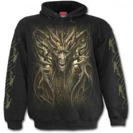 Sweat-capuche homme à Dragon de la forêt mystique
