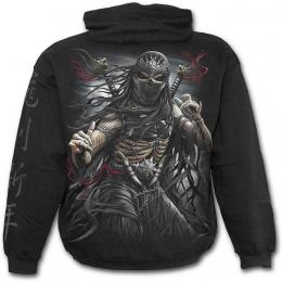 Sweat-shirt gothique homme avec squelette assassin ninja