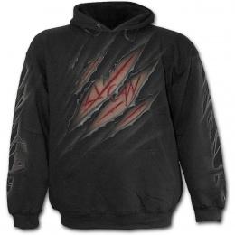 Sweat-shirt gothique homme à Loup-garou puis griffure dans le dos