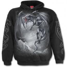 Sweat-shirt homme gothique à dragon gris libéré de ces chaines