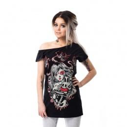 T-shirt femme Cat Muerte Off Shoulder T - Vixxin