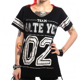 """T-shirt femme punk-rock Team """"Hate you"""" - Heartless"""