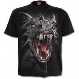 T-shirt gothique homme à Dragon effet 3D