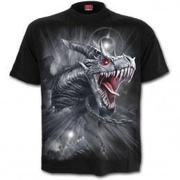 T-shirt homme gothique à dragon gris libéré de ces chaines