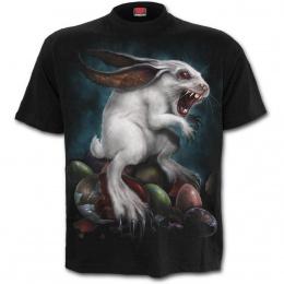 T-shirt homme gothique à lapin de paques démoniaque