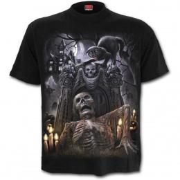 T-shirt homme gothique à maison hantée